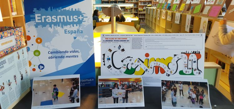CULTURAL WEEK IN IES NÚMERO 1 RIBEIRA (SPAIN). EXHIBITION ABOUT THE GAME OF THE GOOSE