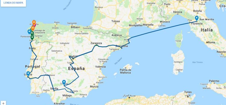 """ERASMUS+ """"A JOURNEY THROUGH TIME"""". TRAVEL OF COSME III FROM FLORENCE TO SANTIAGO DE COMPOSTELA IN 1668/69. GALICIAN SECTION."""