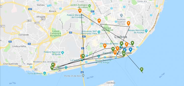 Visit of Cosimo III de Medici to Lisboa – Google My Maps