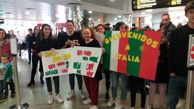 Receção no aeroporto de Florença